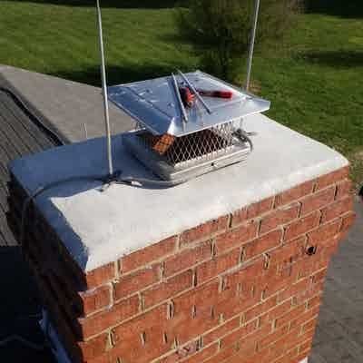 Chimney Cap Repairs and Lightning rod